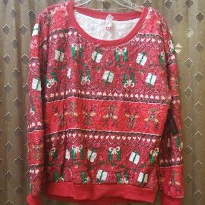 NWT Christmas Reindeer and Presents Sweatshirts